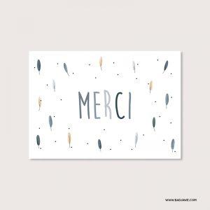 Cartes ensemencées - Merci - Français