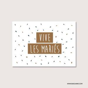 Cartes ensemencées - Vive les mariés - Français