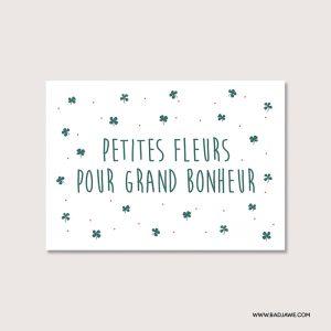 Cartes ensemencées - Petites fleurs pour grand bonheur - Français