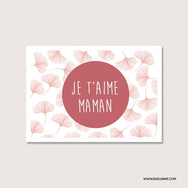 Cartes ensemencées - Je t'aime maman - Français