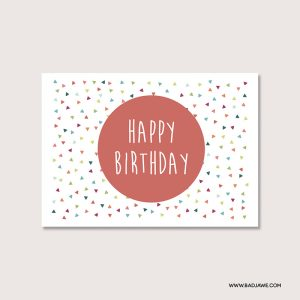 Cartes ensemencées - Happy birthday - Français
