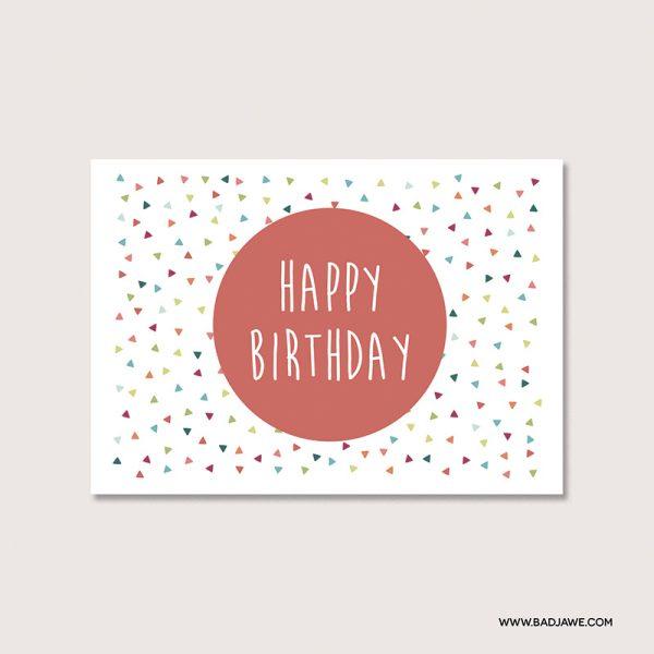 Cartes ensemencées - Happy birthday - Français