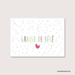 Cartes ensemencées - Graine de bébé - Français