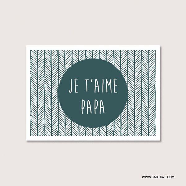 Cartes ensemencées - Je t'aime papa - Français