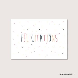 Cartes ensemencées - Félicitations - Français