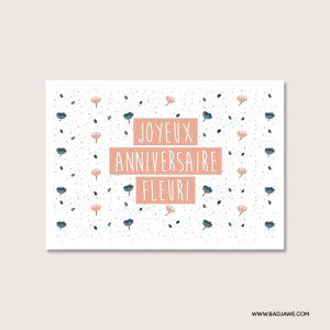 Cartes ensemencées - Joyeux anniversaire qu'il pleuve des confettis pour toi Joyeux anniversaire fleuri - Français
