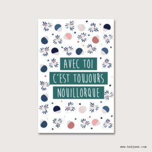 Cartes Postales - Avec toi c'est toujours Nouillorque - Français