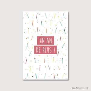 Cartes Postales - Un an de plus - Français