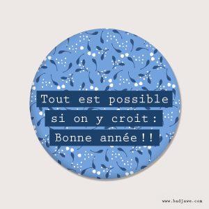 Aimants - Tout est possible si on y croit : Bonne année !! - Français