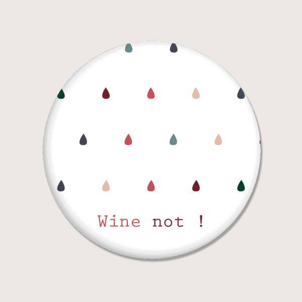 Aimants - Wine not - Anglais