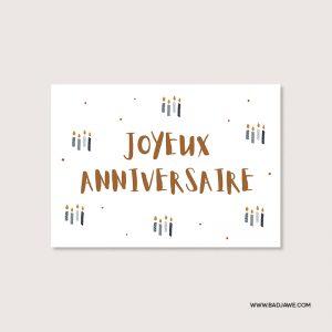 Cartes ensemencées - Joyeux anniversaire   - Français