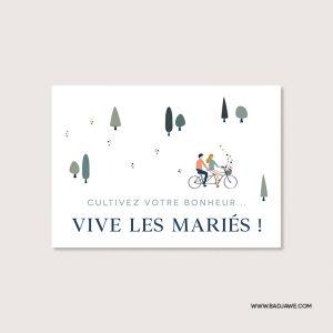 Cartes ensemencées - Cultivez votre bonheur… vive les mariés ! - Français