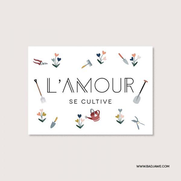 Cartes ensemencées - L'amour se cultive - Français