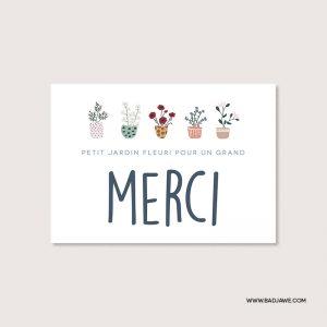 Cartes ensemencées - Petit jardin fleuri pour un grand Merci - Français