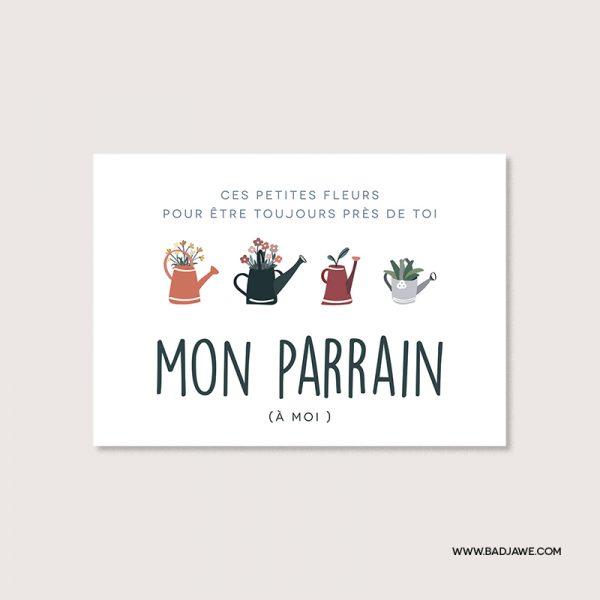 Cartes ensemencées - Ces petites fleurs pour être toujours près de toi mon parrain (à moi) - Français
