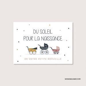 Cartes ensemencées - Du soleil pour la naissance de votre petite merveille - Français