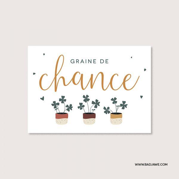 Cartes ensemencées - Graine de chance - Français