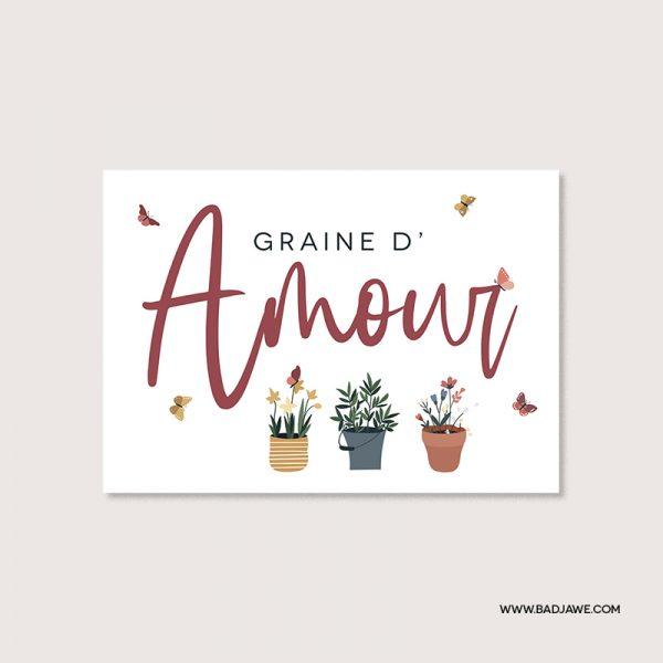 Cartes ensemencées - Graine d'amour - Français