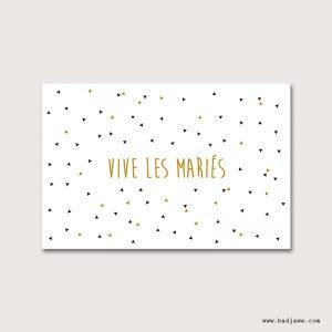 Cartes Postales - Vive les mariés - Français