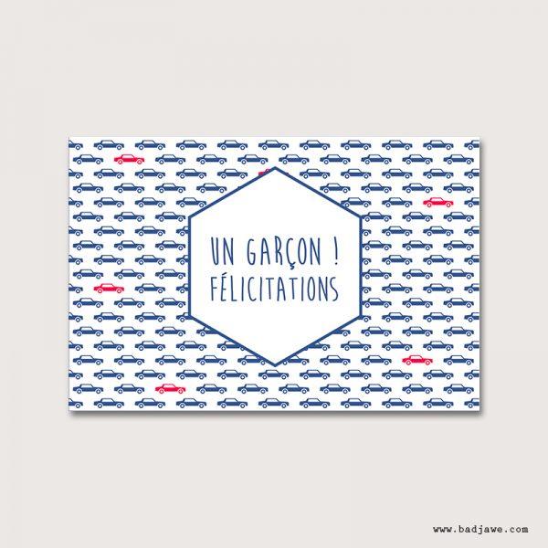 Cartes Postales - Un garçon!! Félicitations - Français
