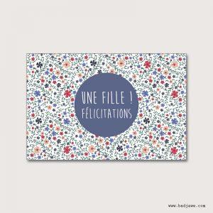 Cartes Postales - Une fille!! Félicitations - Français