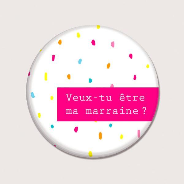 Aimants - Veux tu être ma marraine - Français