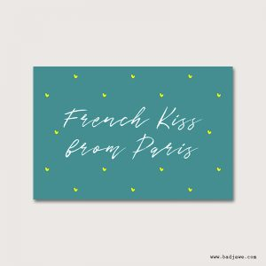 Cartes Postales - French kiss from Paris - Paris