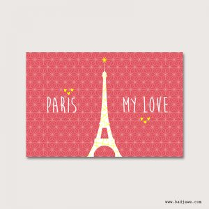 Cartes Postales - Paris my love : tour Eiffel - Paris