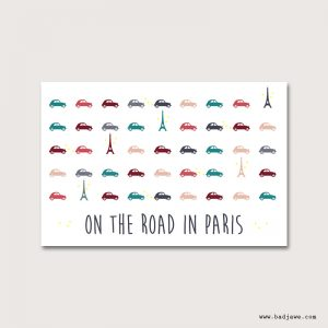 Cartes Postales - On the road in Paris : tour Eiffel