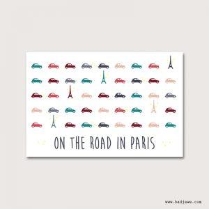 Cartes Postales - On the road in Paris : tour Eiffel