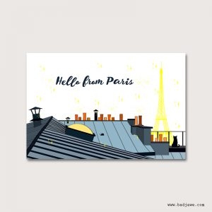 Cartes Postales - Hello from Paris - Paris