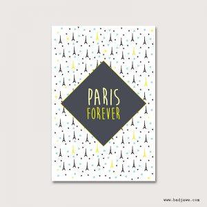 Cartes Postales - I Love Paris : Tour Eiffel - Paris