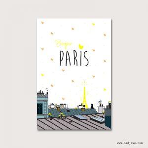 Cartes Postales - Bonjour Paris : toits de Paris