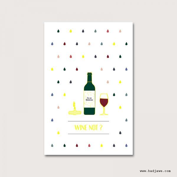 Cartes Postales - Wine not : vin  - Paris