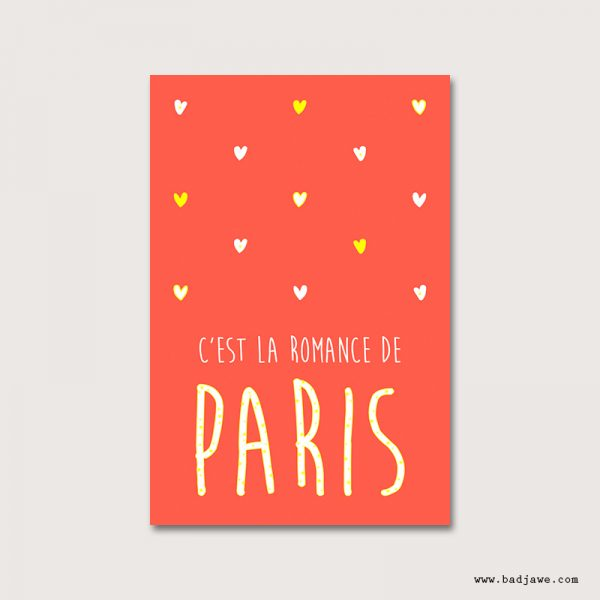 Cartes Postales - C'est la romance de Paris - Paris