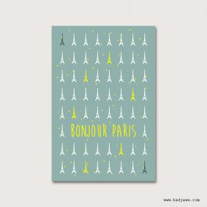 Cartes Postales - Bonjour Paris : Tour Eiffel - Paris