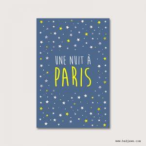Cartes Postales - Une nuit à Paris - Paris