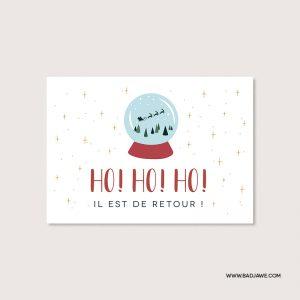Cartes ensemencées - Ho! Ho! Ho! Il est de retour - Français