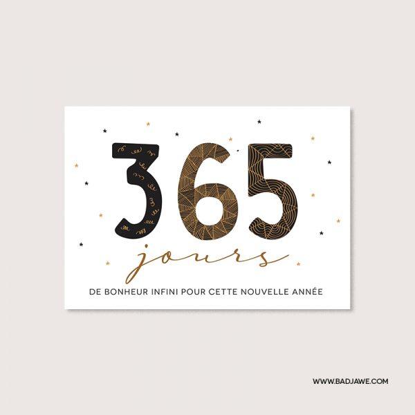 Cartes ensemencées - 365 jours de bonheur infini pour cette nouvelle année - Français