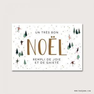 Cartes Postales - Un très bon noël rempli de joie et de gaieté - Français